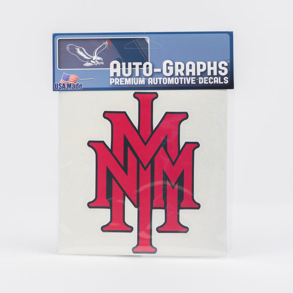 NMMI Red Stacked Logo Decal