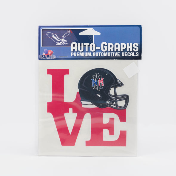 NMMI Love Football Decal