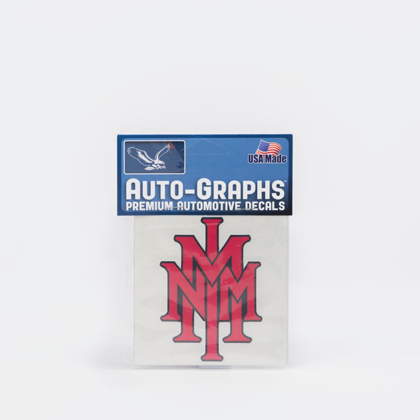 NMMI Red Stacked Logo Mini Decal