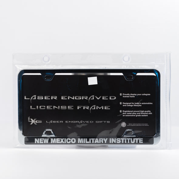 NMMI Black Laser Engraved License Plate Cover