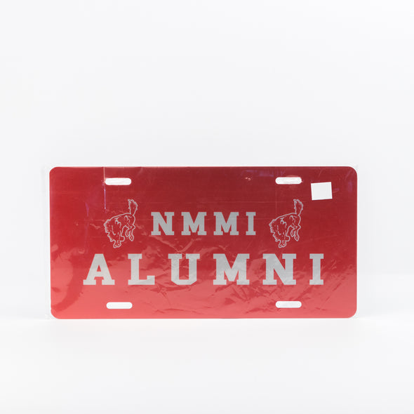 NMMI Red Alumni License Plate