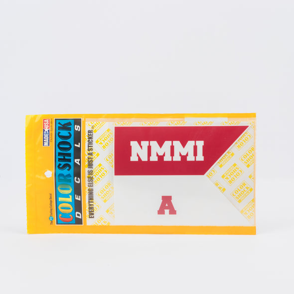 NMMI Custom Letter A-Z Red & White Decal
