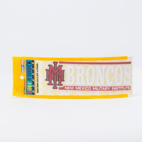 NMMI Broncos Stacked Logo Decal