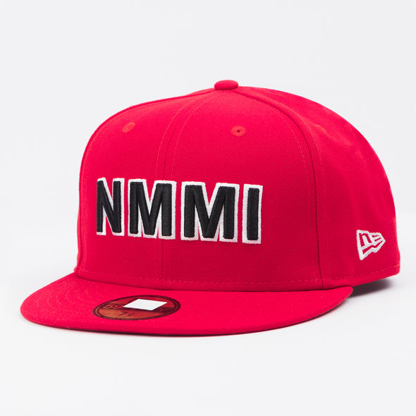 NMMI Red Fitted Flat Bill Hat