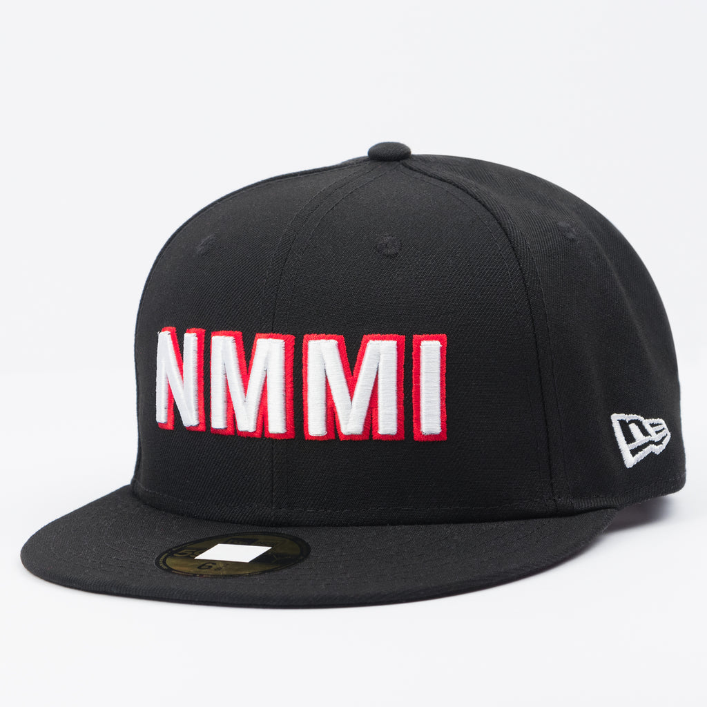 NMMI Black Fitted Flat Bill Hat