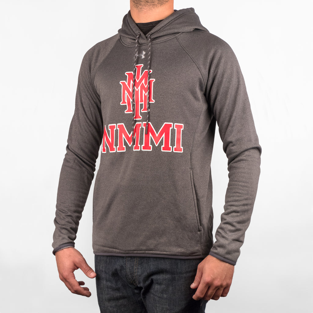 NMMI Under Armour Gray Red Logo Hoodie