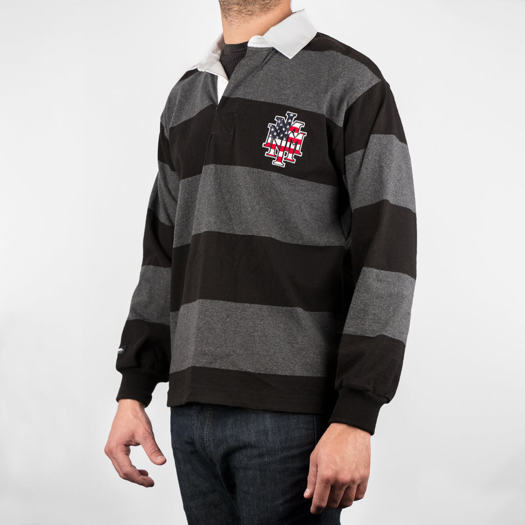NMMI Gray & Black USA Rugby Style Jacket