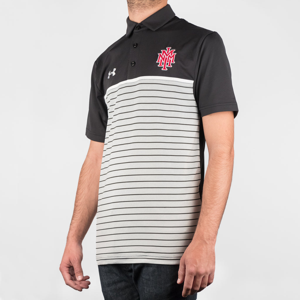NMMI Under Armour Black Striped Polo