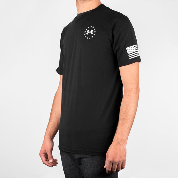 NMMI Under Armour Black USA Flag T-shirt