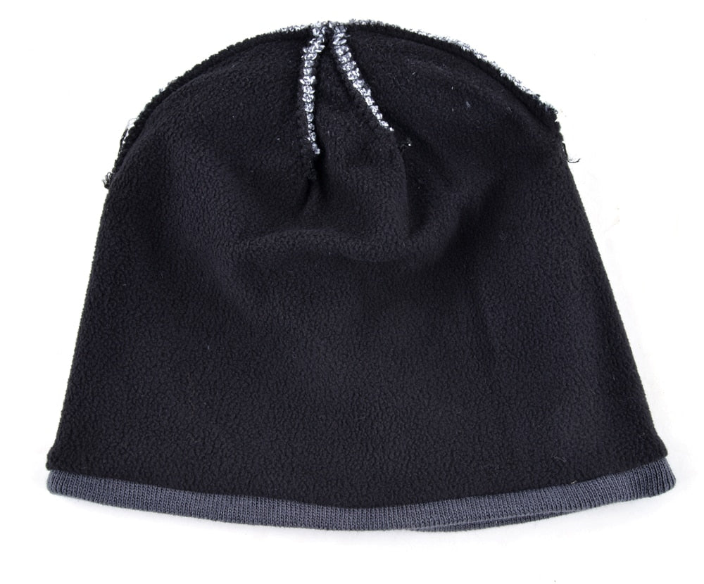 69aea478dd7a3 2018 Men s Skullies Hat Bonnet Winter Beanie Knitted Wool Hat Plus ...