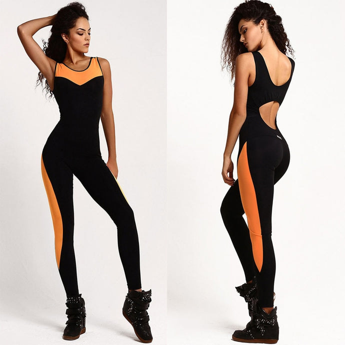 Women's Fitness One Piece Backless Bodysuit