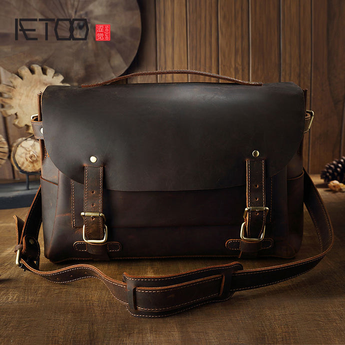 AETOO Women's Leather Cambridge Baotou Cowhide Handbag