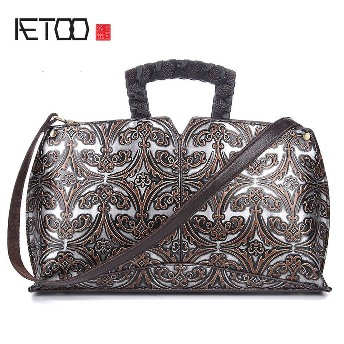 AETOO Embossed Handbag