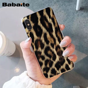 Babaite Tiger Leopard Novelty Fundas Phone Case Cover for Apple iPhone 8 7 6 6S Plus X XS MAX 5 5S SE XR Cellphones