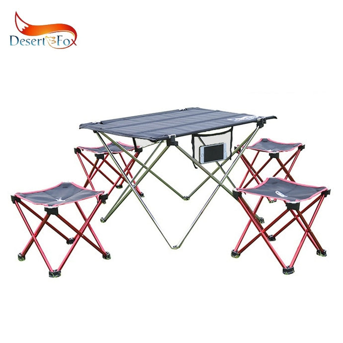 Desert&Fox Camping Foldable Chair & Stool Aluminium Alloy Outdoor Picnic DIY Chair and Table Desk Lightweight BBQ Fishing Tools