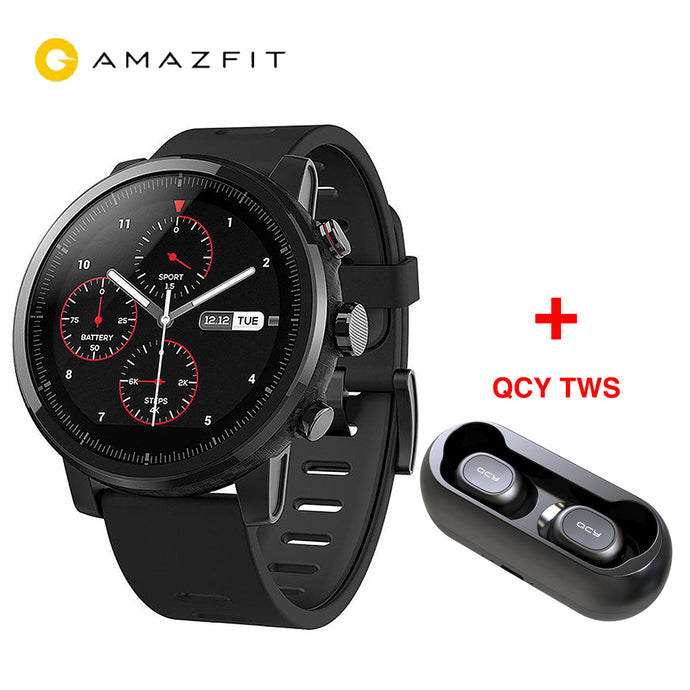 [IN STOCK] Global Huami AMAZFIT Stratos GPS 5ATM Waterproof Smart Sports Watch 2 512MB/4GB Smartwatch for Android iOS