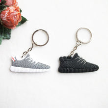 Load image into Gallery viewer, Mini Silicone 350 Keychain Bag Charm Woman Men Kids Key Ring Gifts Sneaker Key Holder Jordan Shoes Key Chain