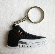 Load image into Gallery viewer, Mini Silicone Jordan 12 Keychain