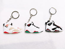 Load image into Gallery viewer, Mini Silicone Jordan 7 Keychain