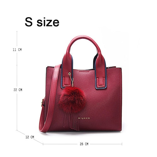 40b165809e7e8 ... Load image into Gallery viewer, Miyaco Women Leather Handbags Casual  Brown Tote bags Crossbody Bag