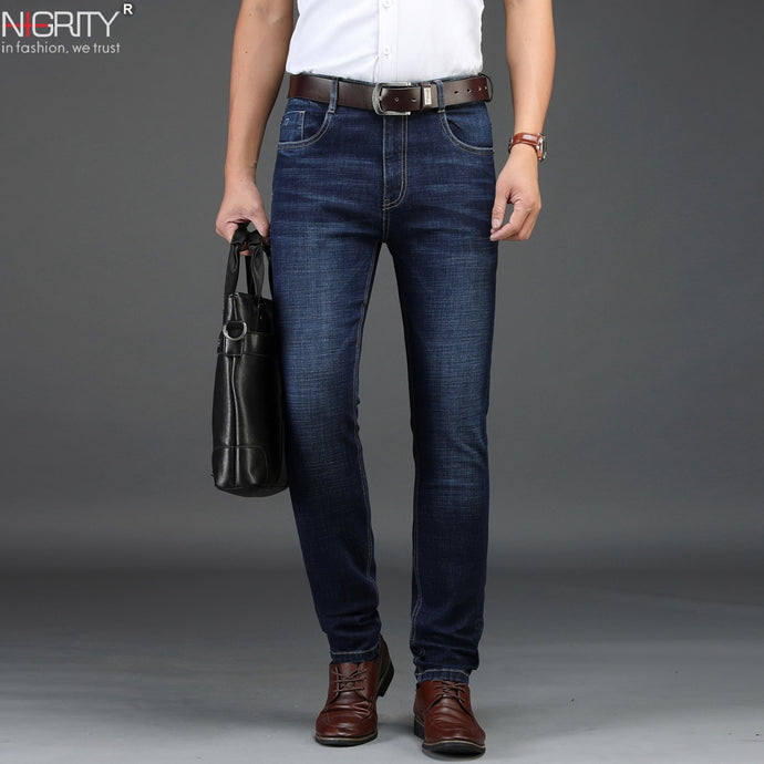 NIGRITY Men's Straight Leg Casual Denim Jeans