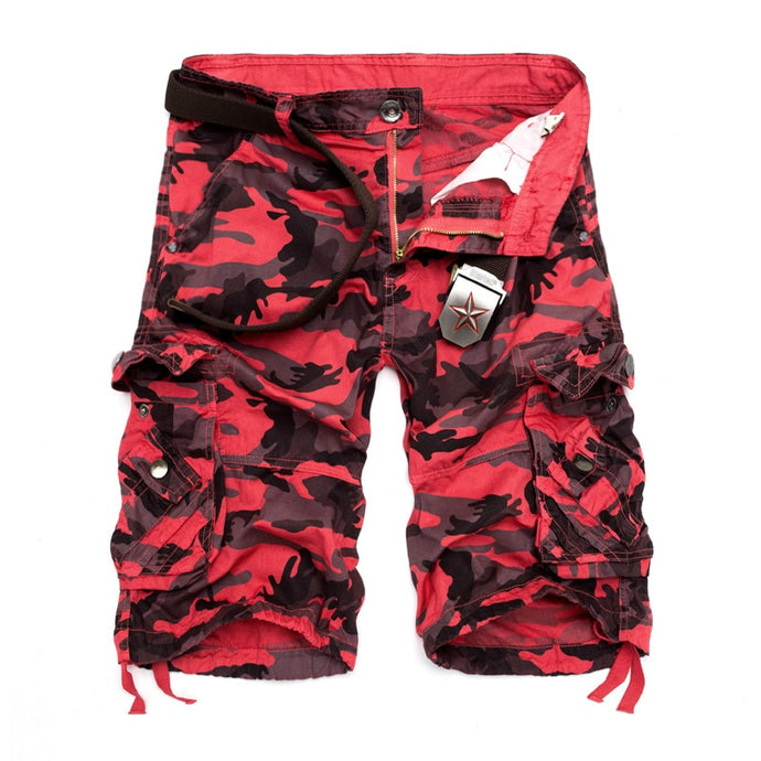 Men's Camouflage Loose Cargo Shorts