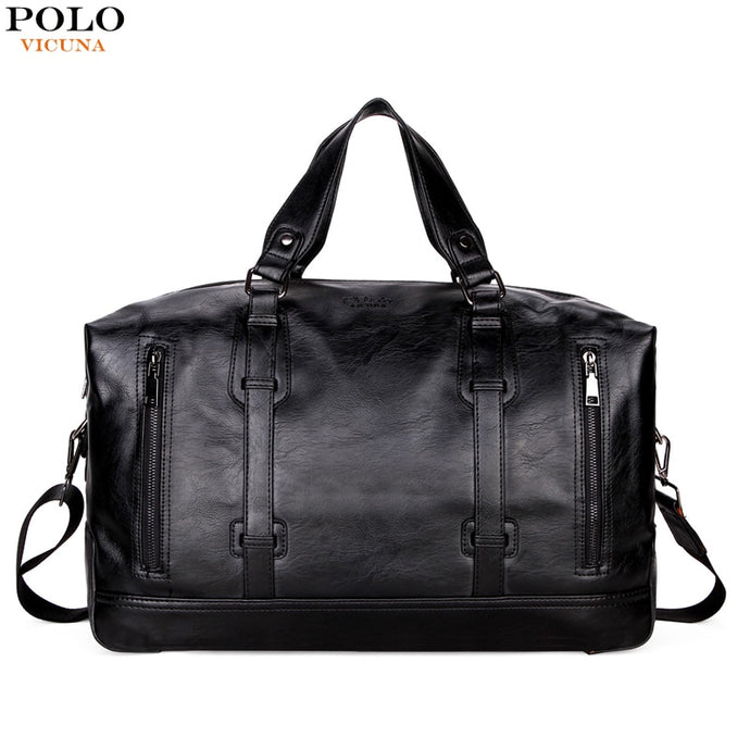 VICUNA POLO Business Men Travel Bags Large Capacity Brand Casual Black Travel Handbag High Quality Travel Man Shoulder Bags