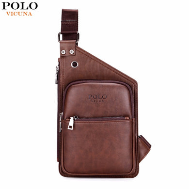 VICUNA POLO Men's Casual Leather Crossbody Bag