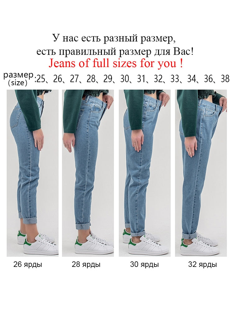 Luckinyoyo Large Women High 5xl Push 2019 For Jean Waist Up Boyfriend With Woman Jeans Size Pants Denim Ladies Mom 29DHWEIbeY