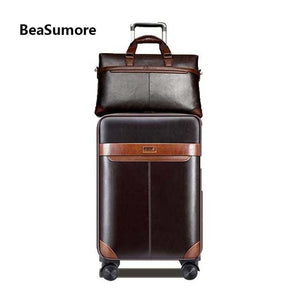 BeaSumore Men Business Rolling Luggage Suitcases Set