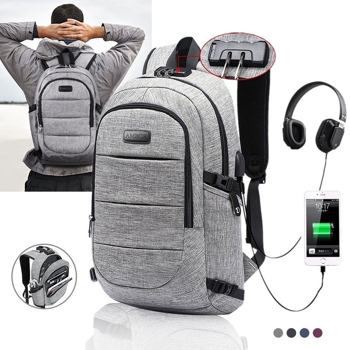 Oxford Waterproof Backpack With USB Charging