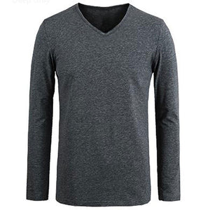 2018 Man's op neck designer Long-sleeve t shirts slim fit fashion cotton casual scoop neck Fitness T-shirt Men Big size 4XL 5XL