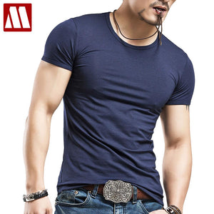 Men Compression Short Sleeve Crew Neck T Shirts