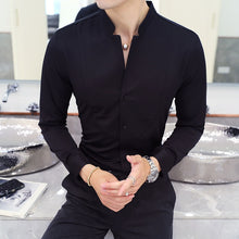 Load image into Gallery viewer, Men's Long-Sleeve Slim Fit Dress Shirt