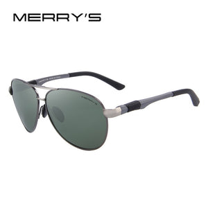 MERRY'S Men's Classic Pilot Polarized Sunglasses