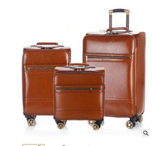 Load image into Gallery viewer, 18 Inch 20 Inch Men Spinner suitcase Luggage 24 trolley Suitcase PU Travel Rolling baggage bag On Wheels Travel Wheeled Suitcase