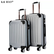 Load image into Gallery viewer, 20/24 inch ABS suitcase on wheels Women fashion travel luggage Cabin trolley box men's rolling luggage carry-ons rode suitcase