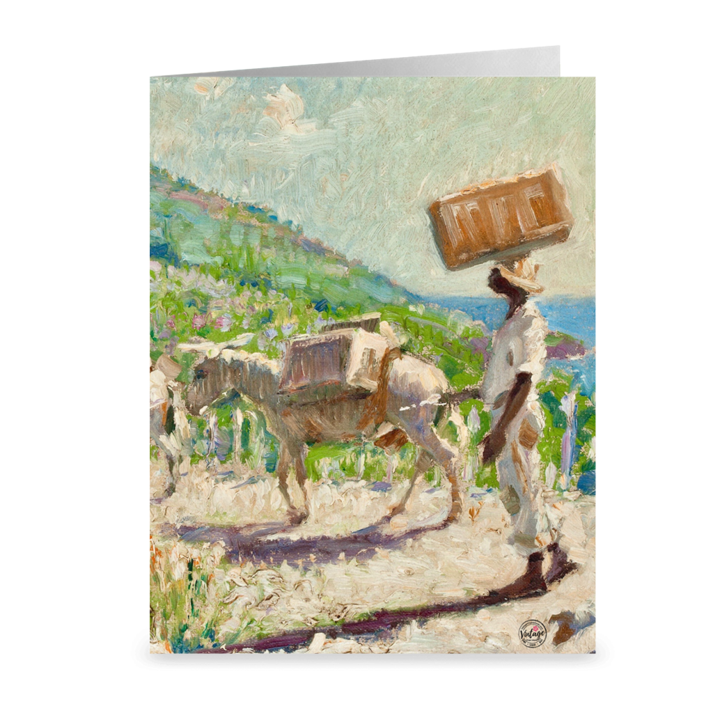 A Hillside Hello By Hugo Larsen ~ Notecard 4.25X5.5 Inch / 5 Pack Paper Products
