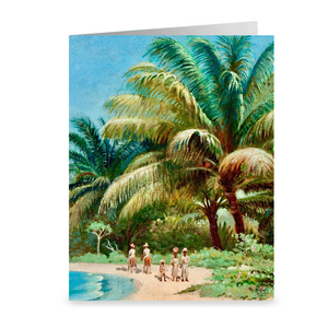 St. Thomas Beach Visit by Andreas Riis Carstensen ~ Notecard - Vintage Virgin Islands