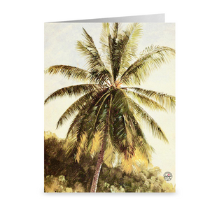 Vintage Palm Tree 1865 ~ Notecard - Vintage Virgin Islands