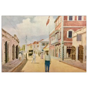 Main Street ~ St. Thomas Colorized Postcard - Vintage Virgin Islands