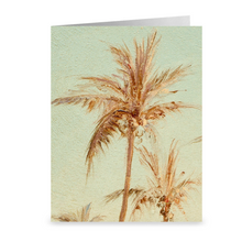 "Load image into Gallery viewer, Twin Palm Trees from ""A Creek in St. Thomas""  by Camille Pissarro ~ Notecard - Vintage Virgin Islands"