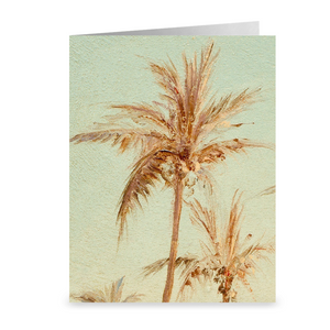 "Twin Palm Trees from ""A Creek in St. Thomas""  by Camille Pissarro ~ Notecard - Vintage Virgin Islands"