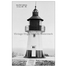 Load image into Gallery viewer, Ham's Bluff Lighthouse ~ St. Croix Postcard - Vintage Virgin Islands