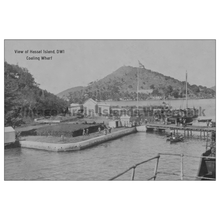 Load image into Gallery viewer, Coaling Wharf ~ Hassel Island Postcard - Vintage Virgin Islands