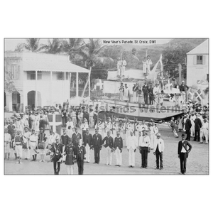 New Year's Day Parade ~ St. Croix Postcard - Vintage Virgin Islands