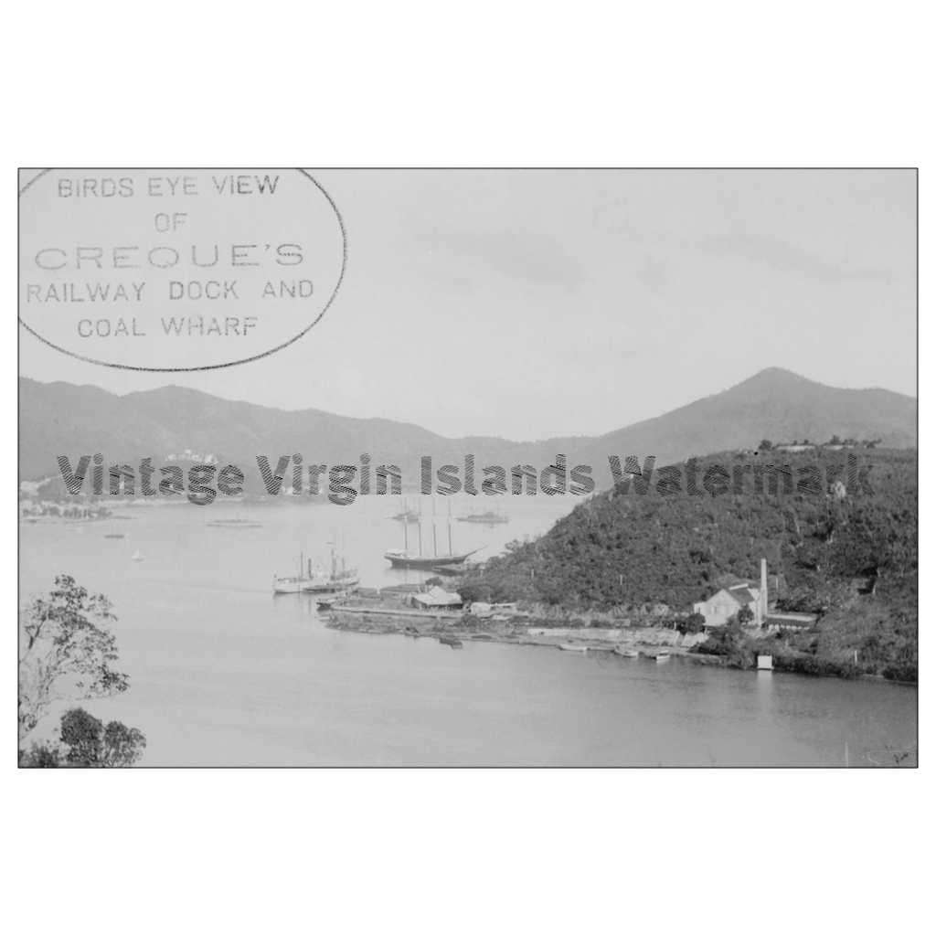 View of Creque Marine Railway ~ Hassel Island Postcard - Vintage Virgin Islands