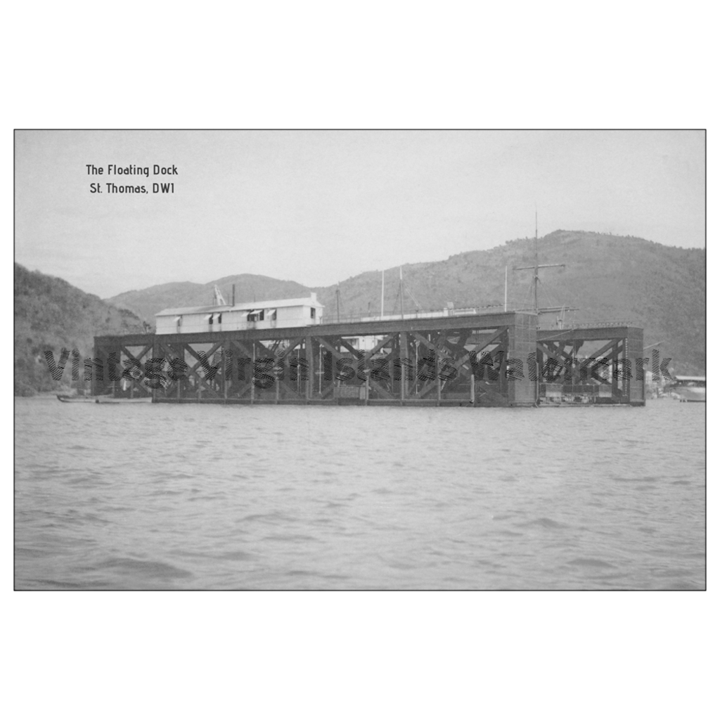 The Floating Dock ~ St. Thomas Postcard - Vintage Virgin Islands