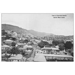 Town View of Charlotte Amalie ~ St. Thomas Postcard - Vintage Virgin Islands