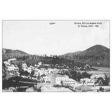 Load image into Gallery viewer, Airship, USS Los Angeles Flies over Charlotte Amalie ~ St. Thomas Postcard - Vintage Virgin Islands